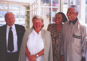 Maurice Strong Hanne Strong Nelson Mandela Gracha Marcel